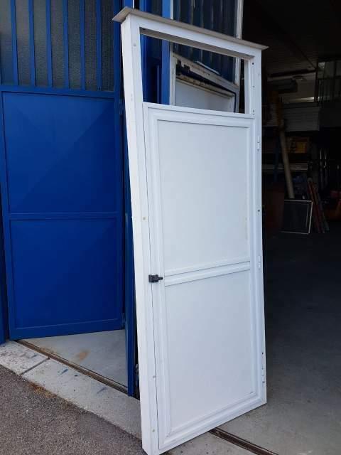 Copricaldaia-Mobile da esterno PVC bianco-Alluminio