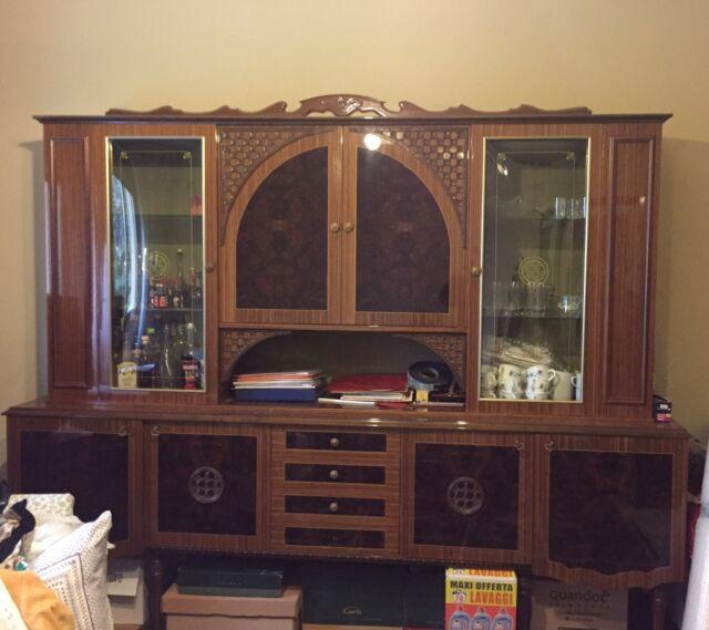 Mobile vetrina sala/salotto/soggiorno in legno