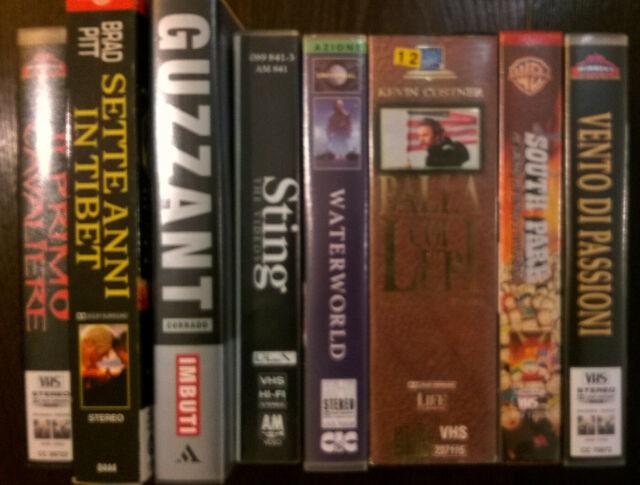 Videocassette originali films e documentari