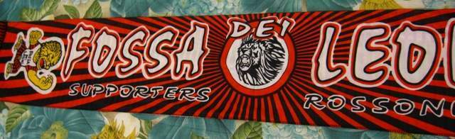 Sciarpa Milan Fossa dei Leoni - FdL  anni 90