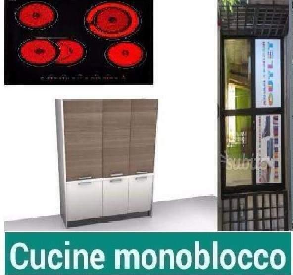 Cucina monoblocco a scomparsa F182 Cm155 PC VETRO-CUCINE A