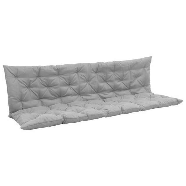Cuscino per Dondolo Grigio 200 cm in Tessuto