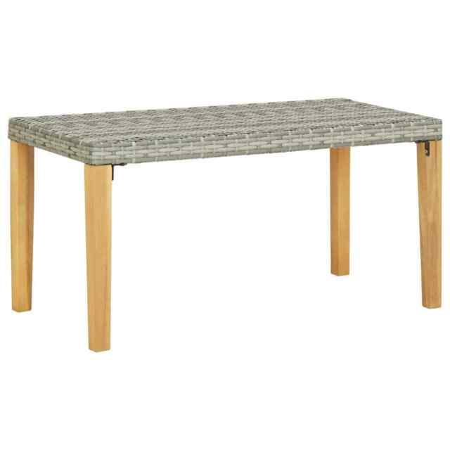 Panchina da Giardino 120 cm Grigio Polyrattan Massello