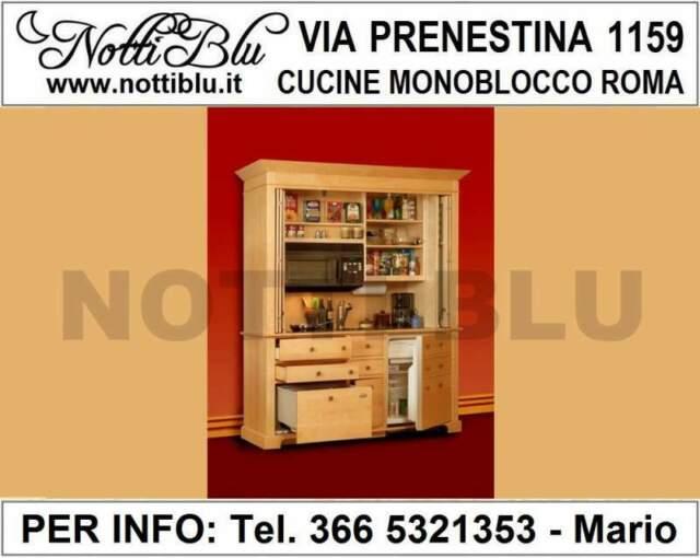 Cucine Monoblocco a Scomparsa Roma - Cucina Notti Blu SE106