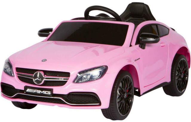 Macchina Elettrica Per Bambini 12v Mercedes C63 Amg Rosa