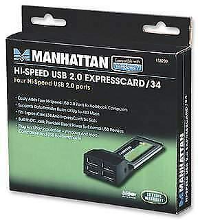 Hi-speed usb 2.0 expresscard/34 manhattan nuovo