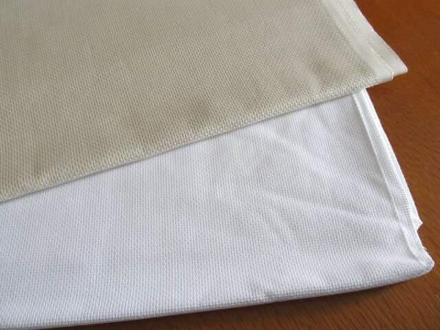 Tessuto cotone Aida Bianca e Ecru per punto croce