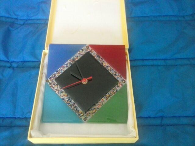 Orologio da muro kharma living in vetro