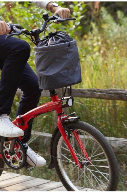 Cestino bici bicicletta pieghevole morbido grigio 10l