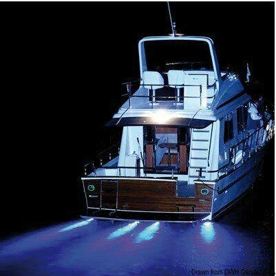 Faretto a LED subacqueo 5 W blu