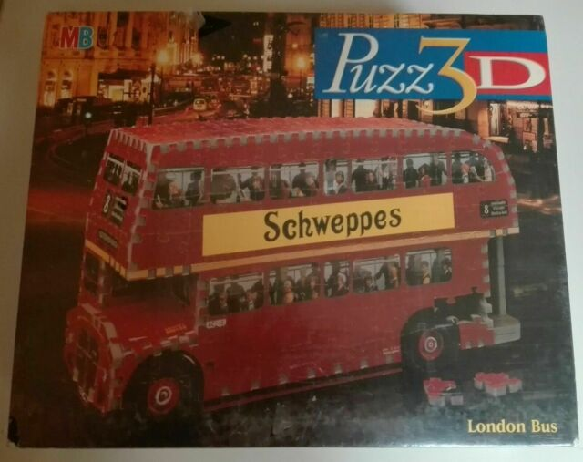 London Bus PUZZ 3D MB SCHWEPPES ROSSO DOUBLE decker