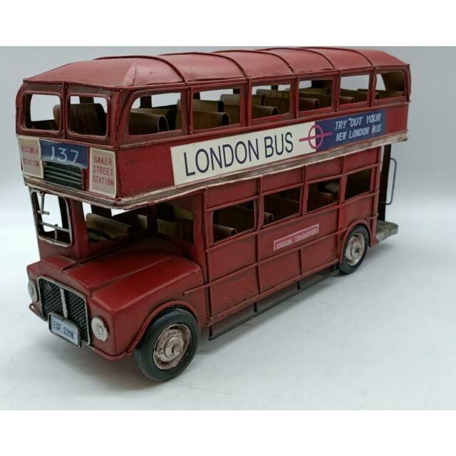 Modellino london bus rosso grande