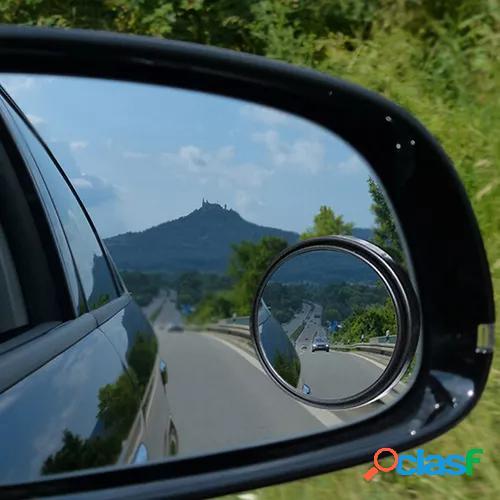 1PC Black car blind spot mirror 360¡ã angle view