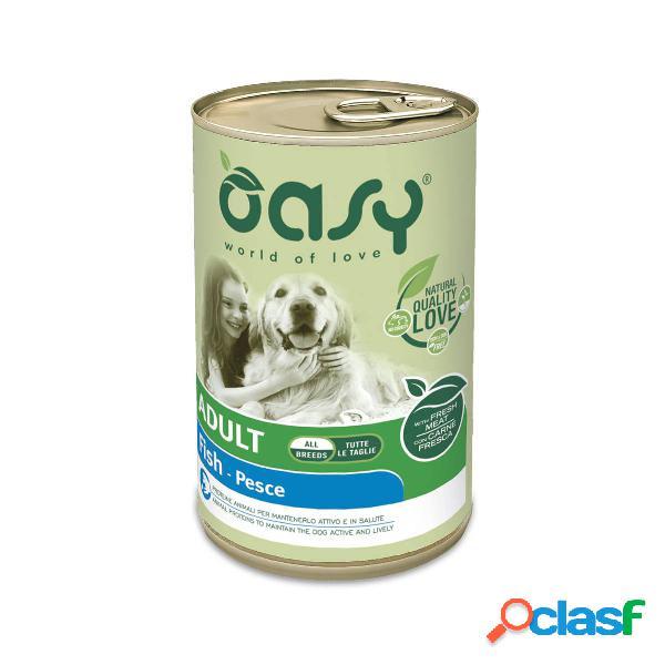 Cibo umido per cani Oasy Adult Pesce all breeds 400 gr