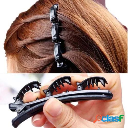 Fashion Double Layer Band Twist Plait Clip Front Hair Clips