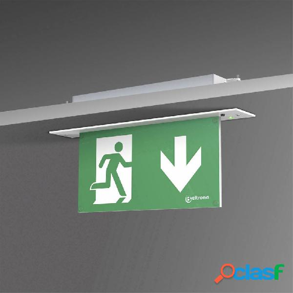Indicazione via di fuga illuminata Montaggio da incasso a