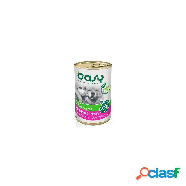 Oasy cibo umido per cani monoproteico Adult Cinghiale One