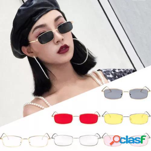 Shades Frame Metal Glasses Square Retro Vintage Sunglasses